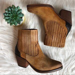 NEW Musse & Cloud Jenci Leather Western Bootie, 10
